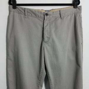 GAP gray flat front straight leg khakis, 34x30